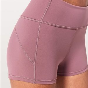 Lululemon In Movement shorts in Figue — size 4